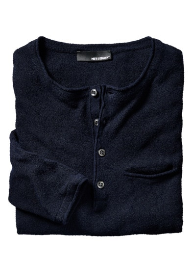 Boucle Henley-Shirt