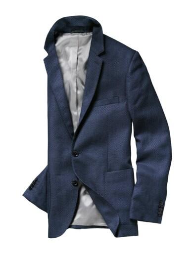 Blaues Leinen-Sakko