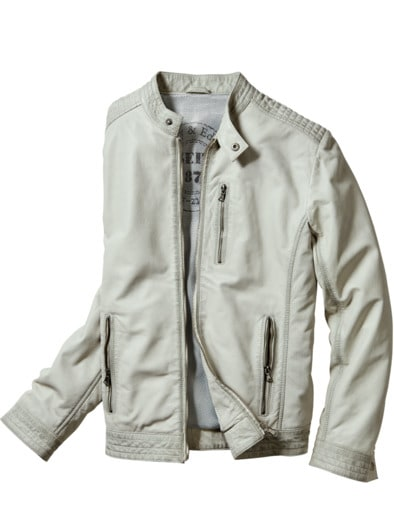 Dirty White Leatherjacket