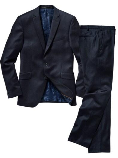 Blue Pinstripe Anzug