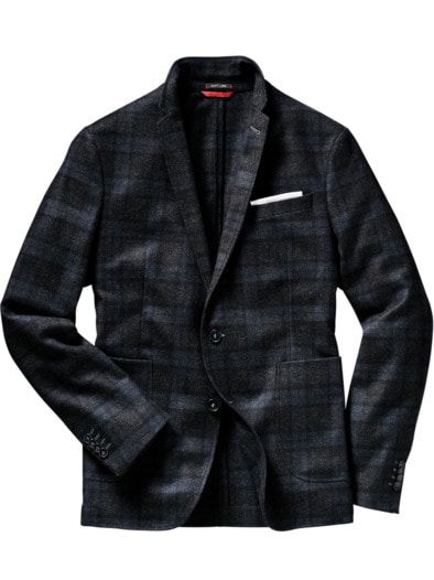italienisches anzugsakko grau slim fit von mey edlich jetzt online kaufen. Black Bedroom Furniture Sets. Home Design Ideas