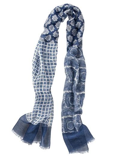 Schwebender Schal blau