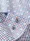 Stehkragenhemd Mosaiko weiß/blau/rot Detail 7