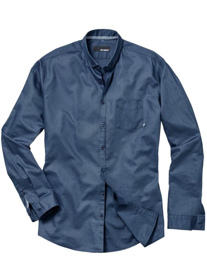 Blauschuss-Oxford-Hemd