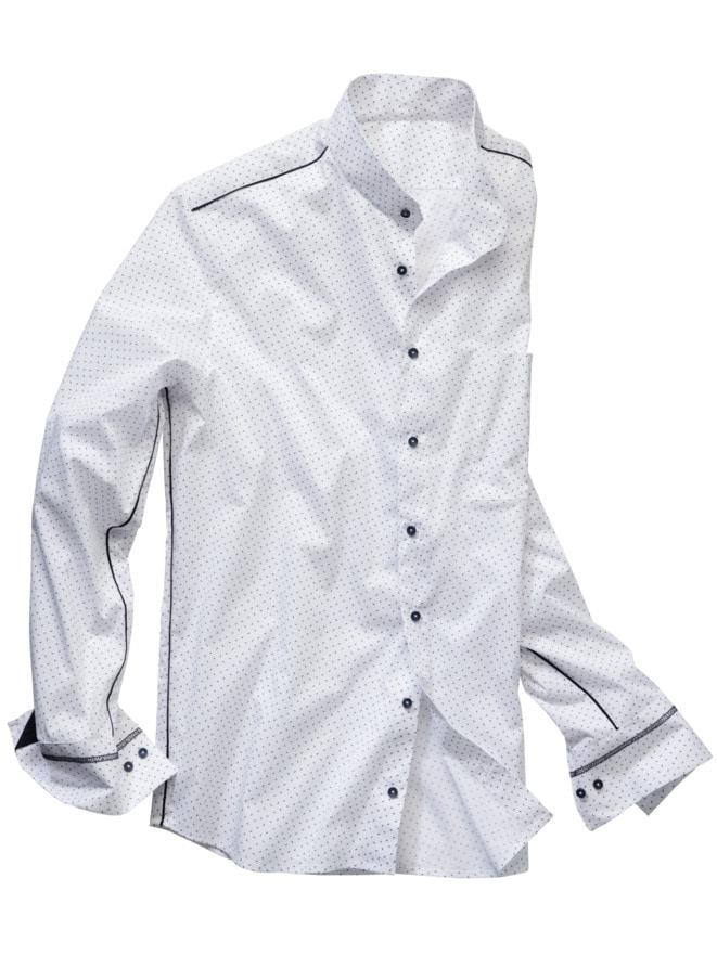 Signet-Stehkragenhemd