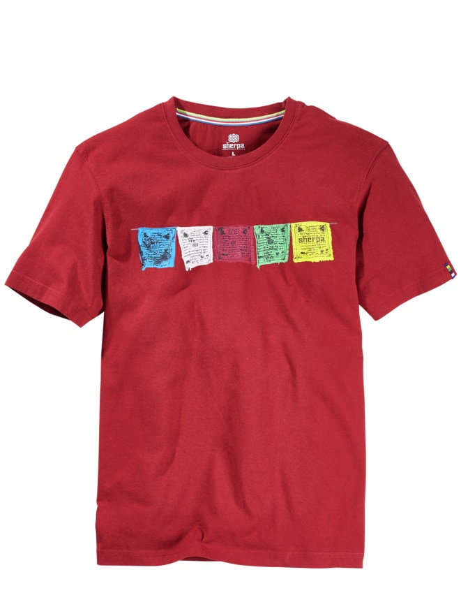 Gebetsfahnen-T-Shirt