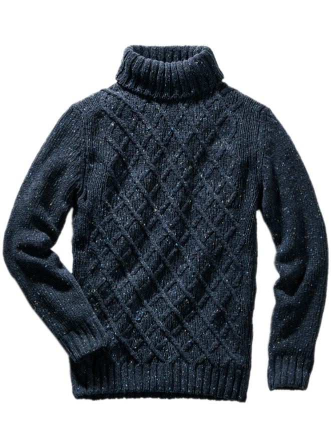 Fischernetz-Pullover